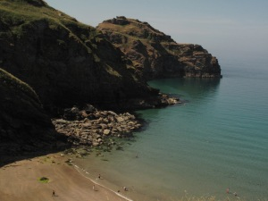 On The Way Down To Bossiney Beach